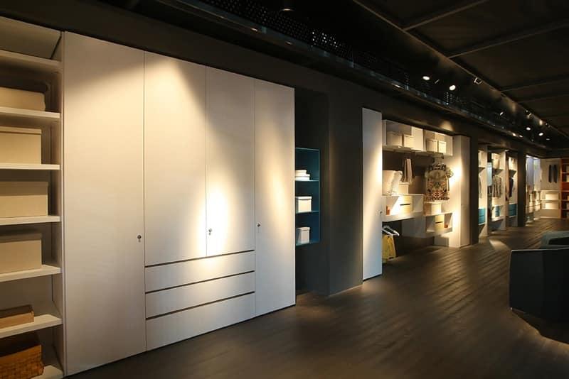 Habitat, Armadio guardaroba personalizzabile, per corridoi e lavanderie