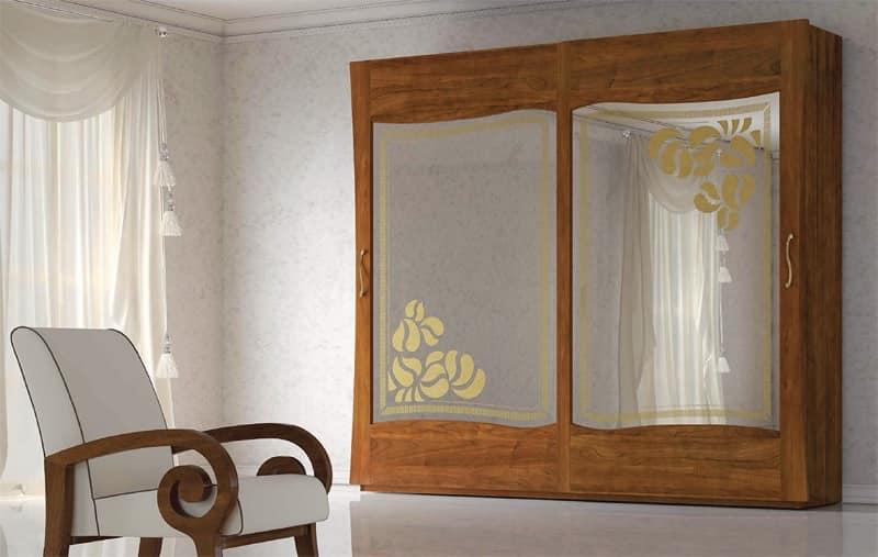 Armadi con specchiera armadio notte armadi art deco area guardaroba idfdesign - Deco mobili store ...