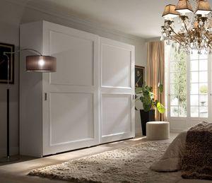 Li� armadio laccato bianco, Armadio con ante scorrevoli, laccato bianco
