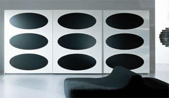 OBERON, Armadio di design in stile anni '70, per camera da letto
