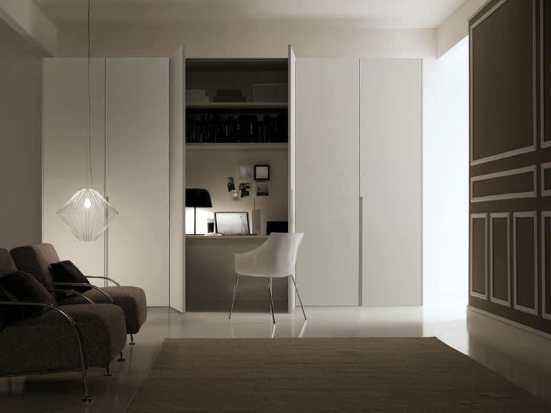 Palco, Armadio moderno, ante scorrevoli, per camere da letto