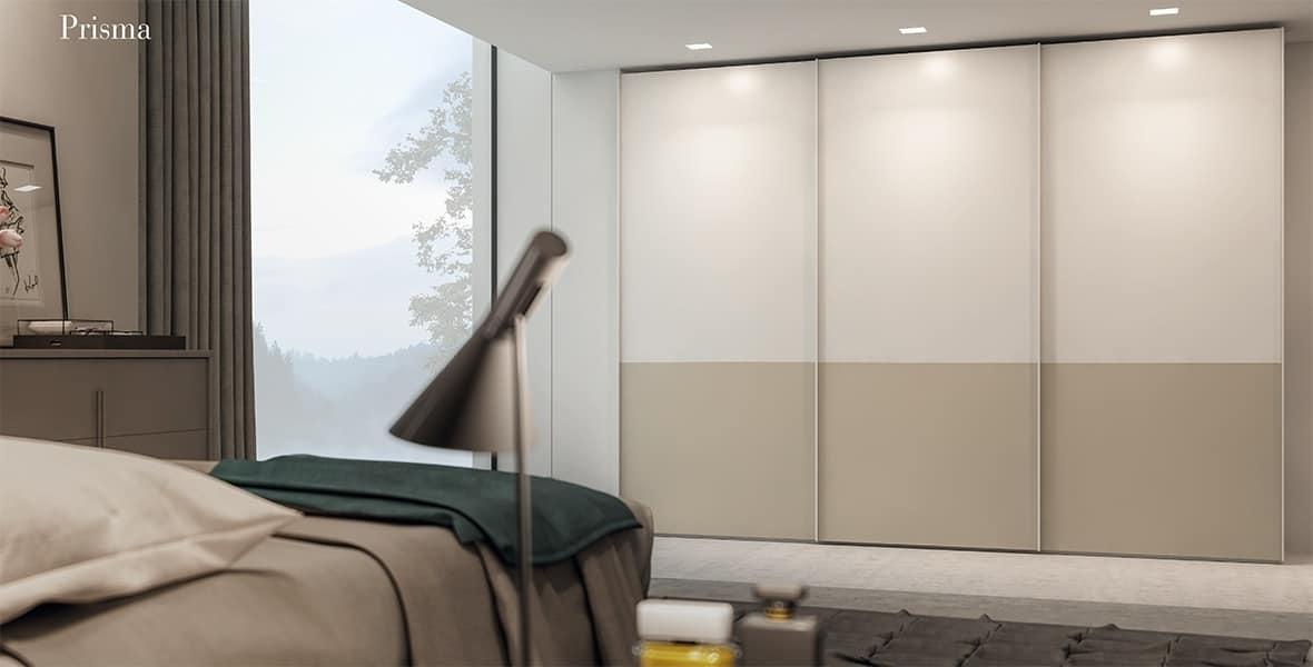 Armadio con porte scorrevole in melaminico idfdesign for Porte scorrevoli per cabine armadio