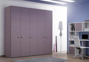 Armadio Basic AE 17, Armadio semplice, ideale per uffici e camere da letto