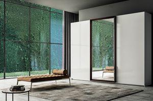 Frame armadio scorrevole, Armadio scorrevoli con anta centrale a specchio
