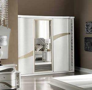 Mir� armadio grande, Armadio con ante scorrevoli e specchio centrale