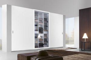 Telaio armadio scorrevole, Armadio scorrevole con ante in legno, vetro e specchio