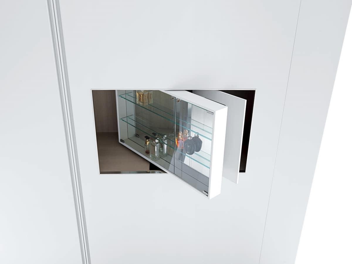 Armadio design con vano girevole per vetrina e tv idfdesign - Armadio con vano porta tv ...