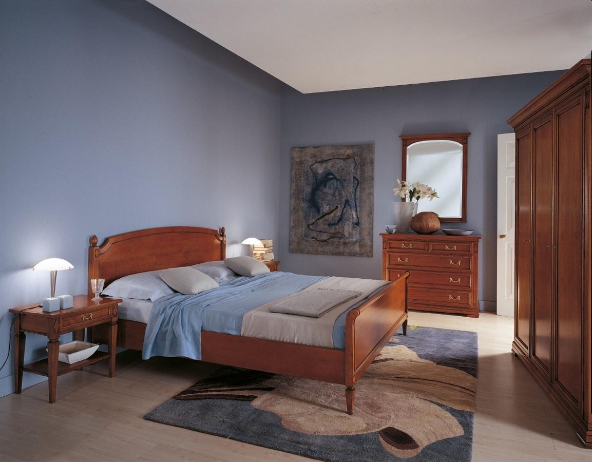 Villa Borghese armadio 7379, Armadio in legno a tre ante, stile Directoire