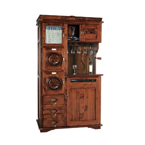 Mobiletto per enoteca con climatizzatore per vino idfdesign for Arredamento cantina vino