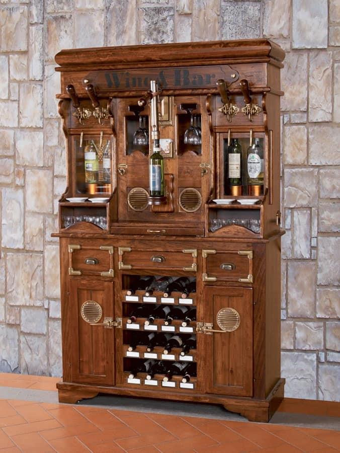 Mobile credenza per enoteca per spinatura alcolici for Arredamento enoteca wine bar