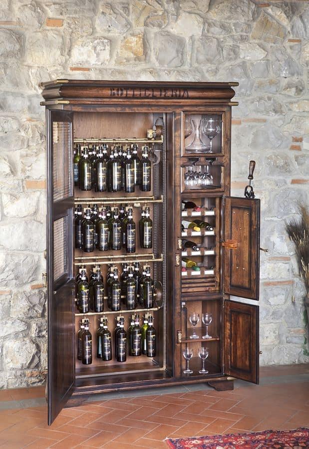 Bottigliera in legno per taverne e pub idfdesign for Arredamento enoteca