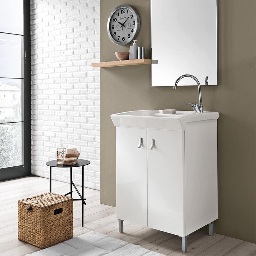 Mobile lavanderia con lavatoio in ceramica | IDFdesign