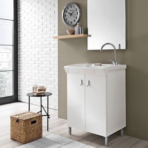 Bijoux comp. 02, Mobile lavanderia con lavatoio in ceramica
