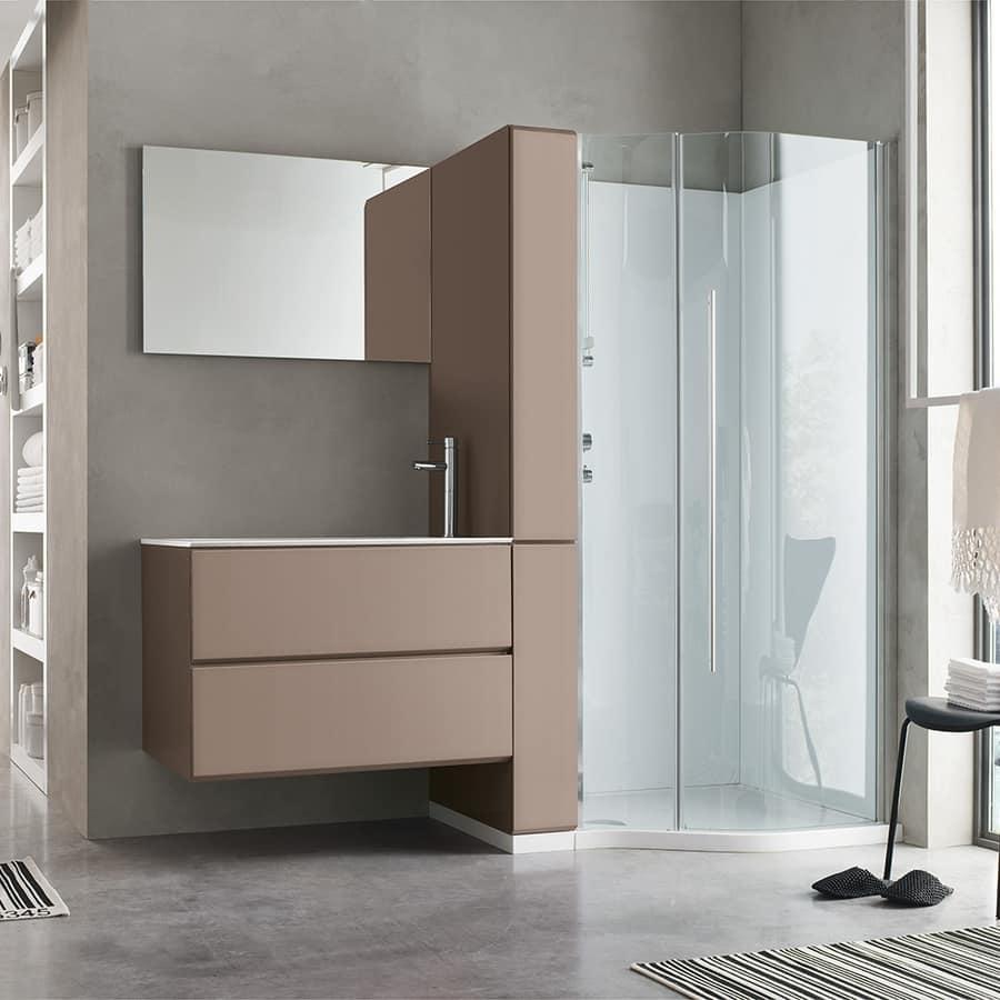 Mobile lavanderia con colonna a porta scorrevole idfdesign for Geromin flexia