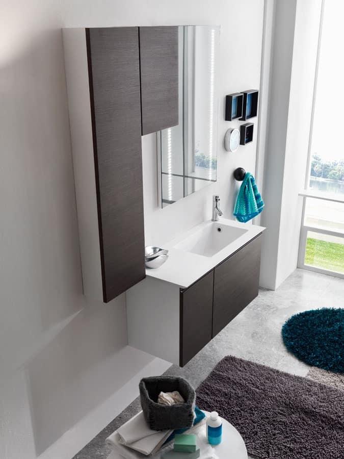 Lavanderia moderna, mobili con geometrie semplici  IDFdesign