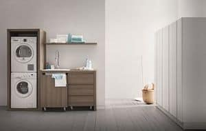Idrobox 01 armadio per lavanderia casa idfdesign - Mobili lavanderia mondo convenienza ...