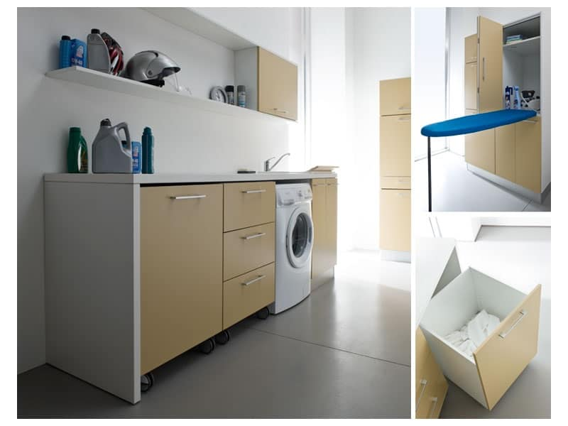 Idrobox 03 sistema modulare per lavanderia lavanderia for Arredamento lavanderia