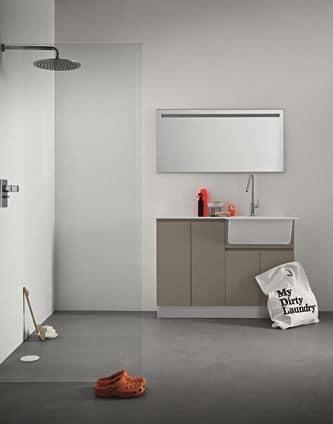 Idrobox 04 sistema modulare per lavanderia casa idfdesign - Mobili per lavanderia domestica ...