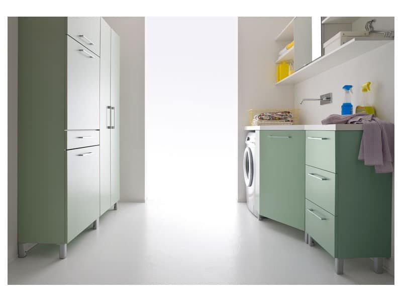 Idrobox 13, Soluzioni compatte per lavanderia Cantina - IDFdesign