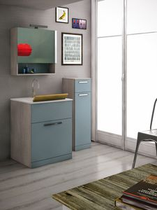 LAVANDERIA 04, Mobile lavanderia con lavatoio