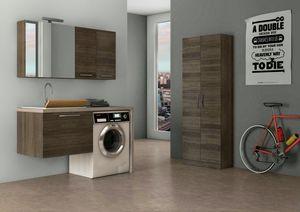 LAVANDERIA 05, Mobile lavanderia sospeso con lavatoio