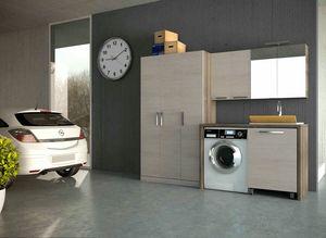 LAVANDERIA 07, Mobile lavanderia componibile in legno