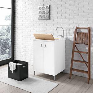 Smart comp. 04, Mobiletto lavanderia con cestello estraibile