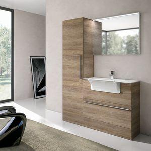 Stone comp. 04, Mobile con lavatoio trasformabile in lavabo