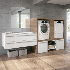 Stone comp. 05, Mobile lavanderia con vano per lavatrice ed asciugatrice