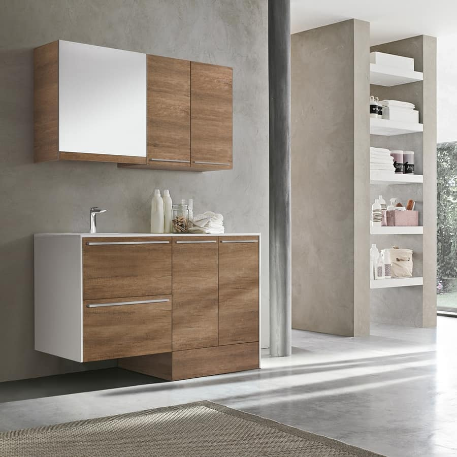 Mobile lavanderia dal design elegante idfdesign - Mobili lavatrici ...