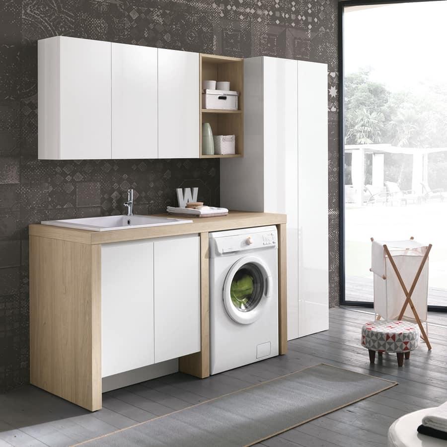 Arredo per lavanderia salvaspazio idfdesign for Arredo per lavanderia di casa