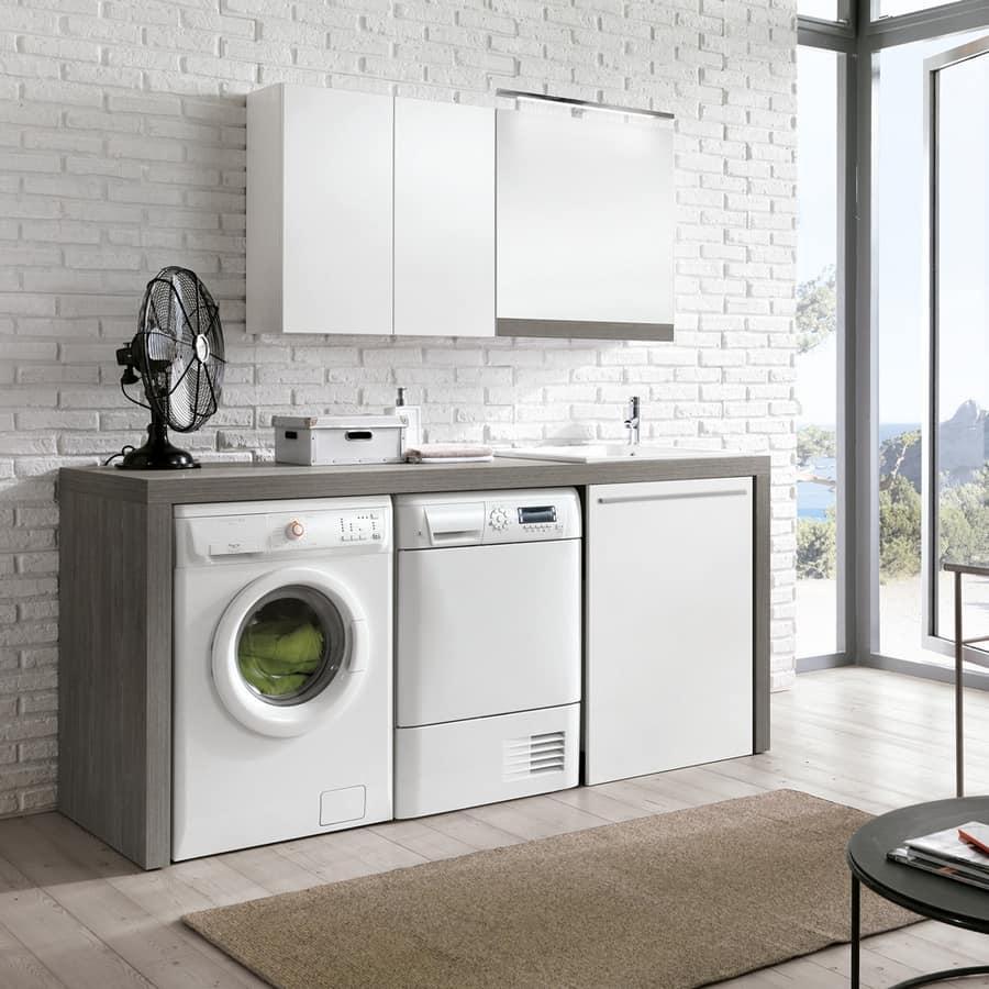 Arredo componibile per lavanderia idfdesign - Arredo per lavanderia di casa ...