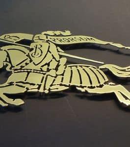Insegne in ottone, Loghi 3D in metallo realizzati su misura ideali per insegne di bar, ristoranti e hotel