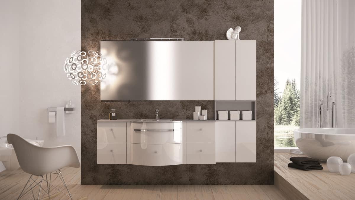 Mobili con finitura lucida ideale per bagno moderni - Mobili per lavandino bagno ...