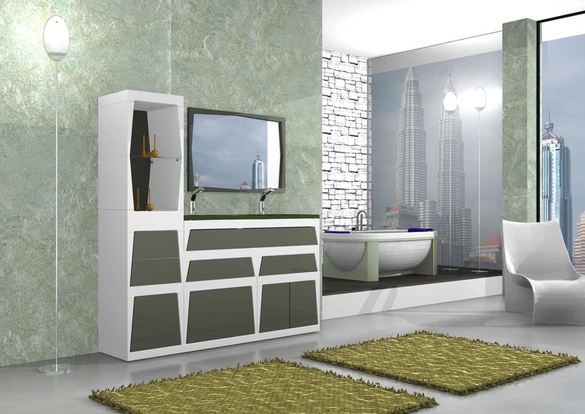 Arredo bagno modulare in vari colori in laminato idfdesign - Immagini arredo bagno ...