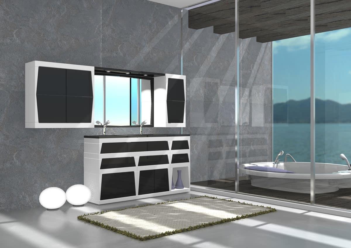 Mobile da bagno con lavandino per la casa idfdesign - Arredo per la casa ...