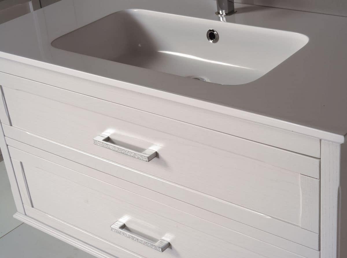 Atena comp 1 arredo bagno con mobile bagno specchiera e for Stipetto bagno