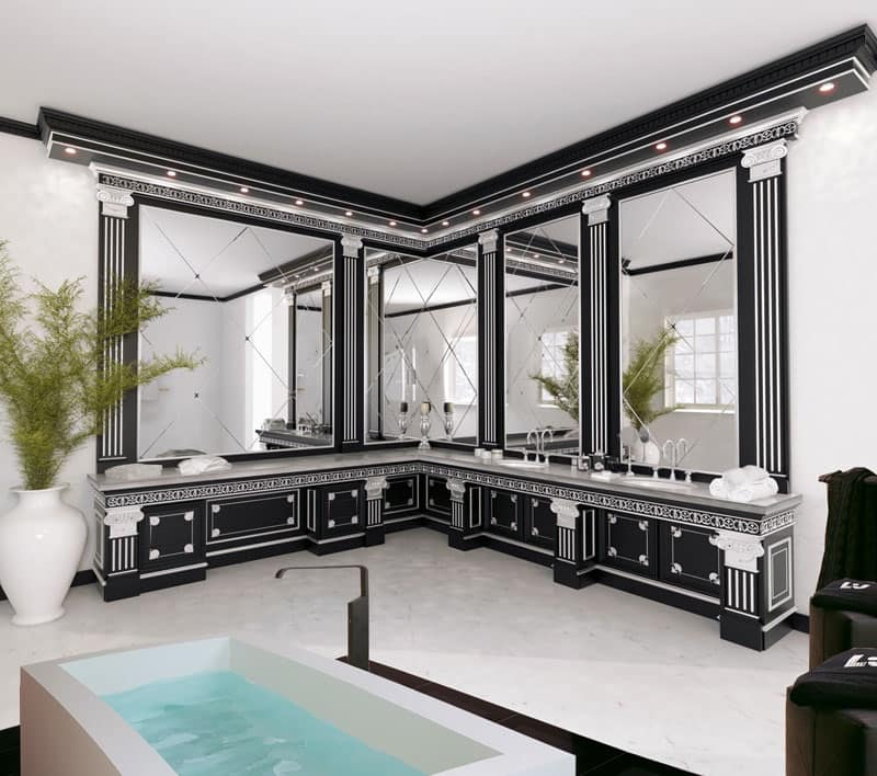 Mobile elegante da bagno per albergo di lusso idfdesign for Bagno padronale di lusso