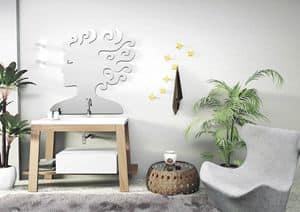 Bath Table 02, Composizione per bagno, in frassino, vasca integrata