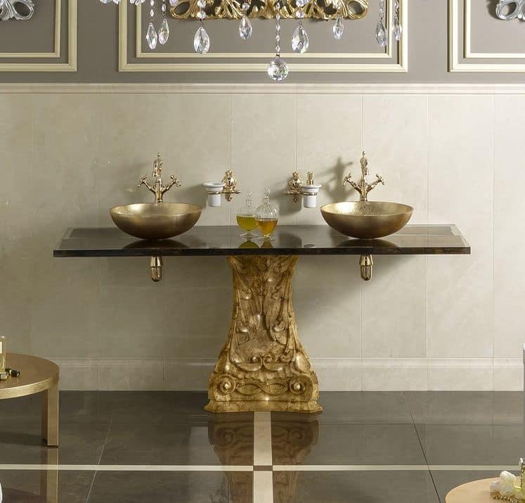 Briccola briccola veneziana in resina da bagno su piede for Gaia arredo bagno