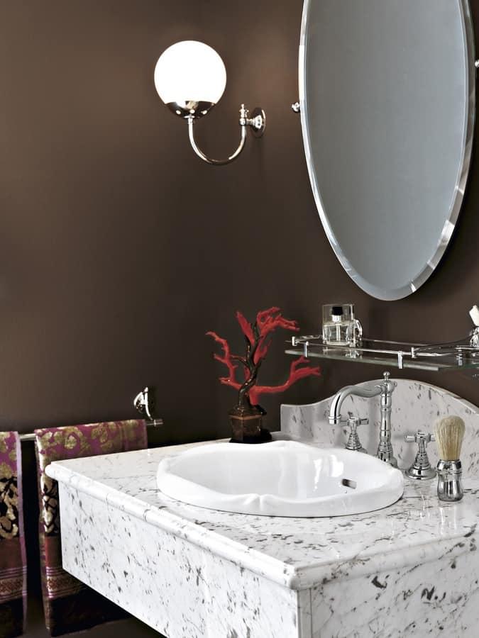 Consolle in marmo stile classico idfdesign - Consolle bagno classico ...