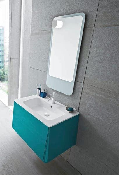 Campus 16 mobili per bagno bagno albergo idfdesign for Specchio bagno a goccia