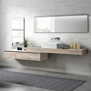 Change comp. 23, Mobile bagno in melaminico con lavabo esterno