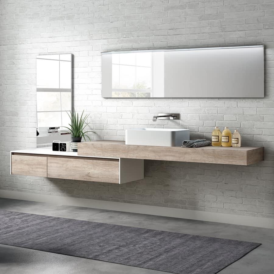 Mobile bagno in melaminico con lavabo esterno idfdesign for Arredi bagno roma