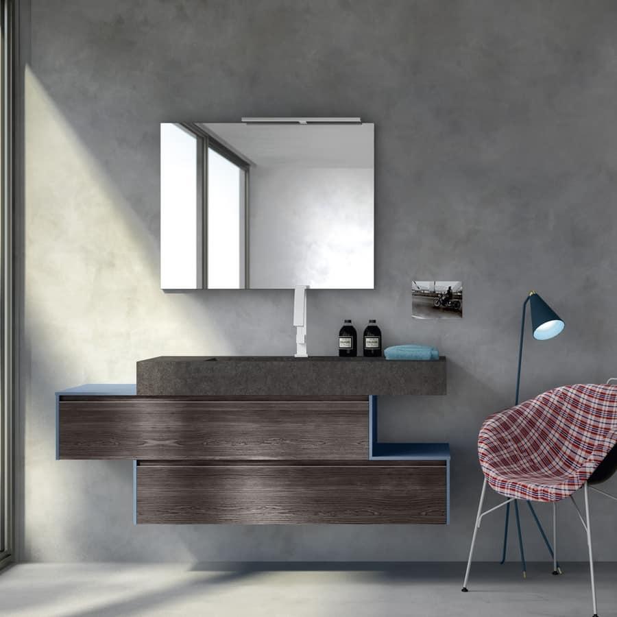 Mobile bagno con vasca integrata nel piano per ristoranti - Mobile bagno moderno ...
