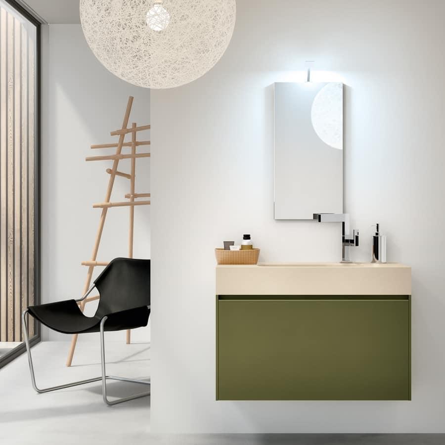 Mobile bagno con lavabo mono blocco per bar idfdesign for Aziende arredo bagno