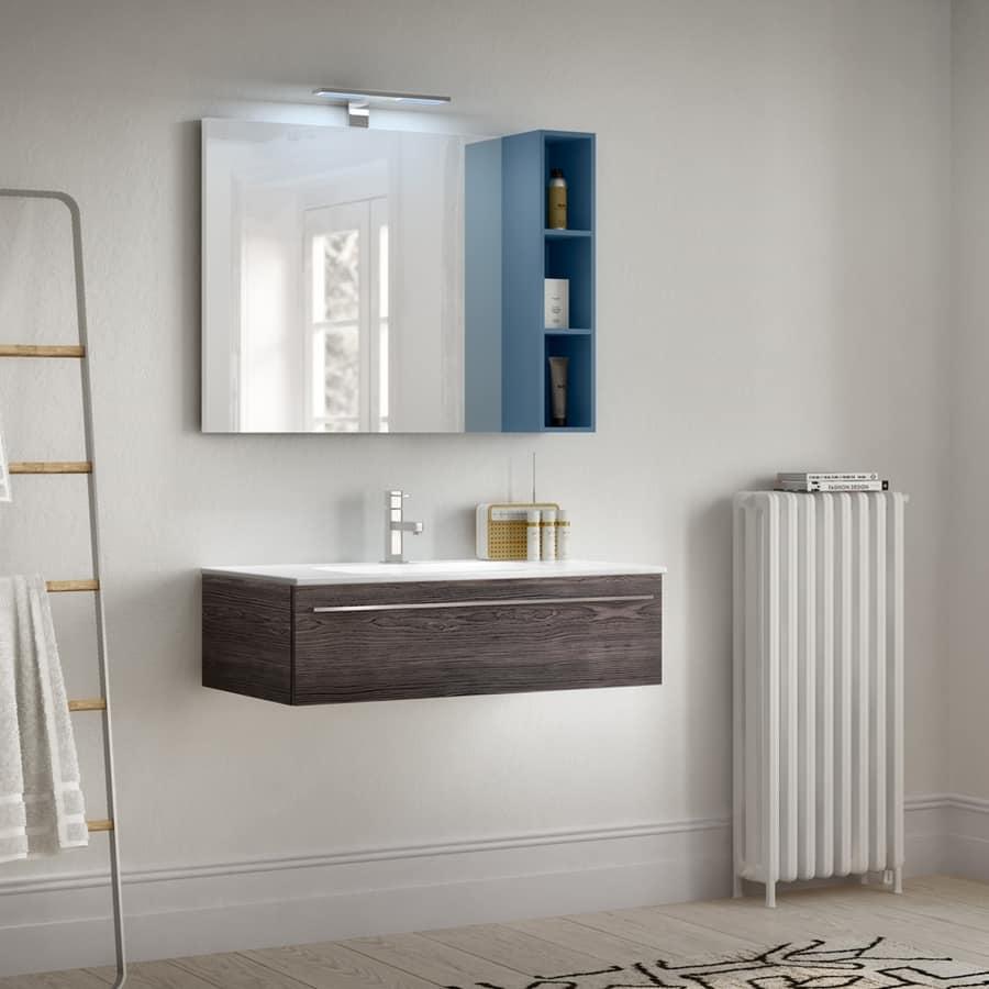 Mobile da bagno con venature in effetto legno per hotel for Arredo bagno hotel