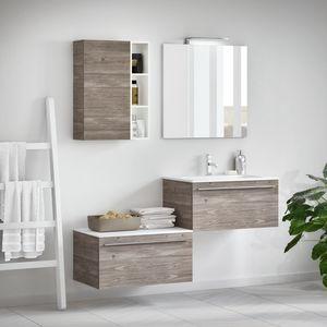 Change comp. 45, Mobile da bagno con effetto legno, con maniglia Griff