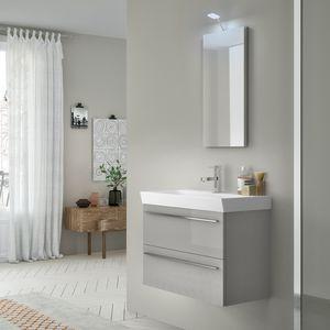 Change comp. 46, Mobile da bagno con lavabo in ceramica e lampada eco-led