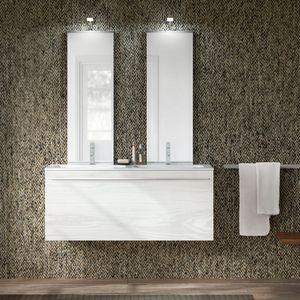 Change comp. 47, Mobile da bagno con doppio lavabo e doppia specchiera